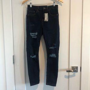 BNWT Topshop Jamie High waist Ankle grazer Jeans